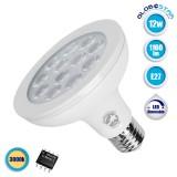 Λάμπα LED E27 PAR30 Σποτ 12W 230V 1160lm 36° Θερμό Λευκό 3000k Dimmable GloboStar 01777