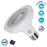 Λάμπα LED E27 PAR30 Σποτ 15W 230V 1480lm 12° Φυσικό Λευκό 4500k Dimmable GloboStar 01782