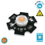 Υψηλής Ισχύος Star LED High Power 1W 3.2V Πορτοκαλί GloboStar 47044