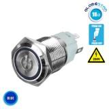Διακοπτάκι LED PUSH ON 230 Volt Μπλε GloboStar 05062