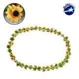 Τεχνητό Κρεμαστό Φυτό Διακοσμητική Γιρλάντα Μήκους 2 μέτρων με 80 X Μικρά Ηλιοτρόπια Κίτρινα GloboStar 09027