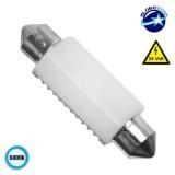 Σωληνωτός LED Κεραμικός 42mm 24V Can Bus με 2 SMD 3030 Ψυχρό Λευκό GloboStar 50202