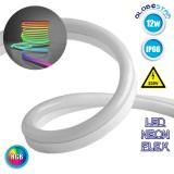 NEON FLEX LED Λευκή 1m 18W/m 230V 120 SMD/m 2835 SMD 450lm/m 120° Αδιάβροχη IP66 RGB Dimmable GloboStar 22509