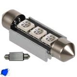 Σωληνωτός LED 39mm Can Bus με 3 SMD Μπλε GloboStar 51650