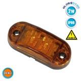 Πλευρικό LED Όγκου - Flash 10-30 Volt Πορτοκαλί GloboStar 77488