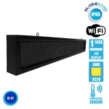 Αδιάβροχη Κυλιόμενη Επιγραφή SMD LED 230V USB & WiFi Μπλε Μονής Όψης 168x20cm GloboStar 90137
