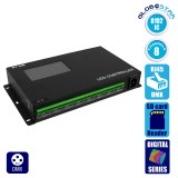LED Digital Magic DMX Addressable RGB Controller DMX512 SY-418 8192 IC με Κάρτα SD Professional Series Για Digital Neon Flex 5v - 12v - 24v GloboStar 22628