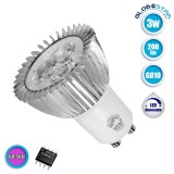 Λάμπα LED Σποτ GU10 3W 230V 200lm 45° Φούξια Dimmable GloboStar 88971