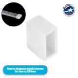 GloboStar® 70902 Τερματικό Καπάκι Σιλικόνης για Αδιάβροχο Κανάλι Σιλικόνης 10mm για Ταινίες LED 8mm