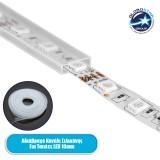 GloboStar® 70903 Αδιάβροχο Κανάλι Σιλικόνης 12mm για Ταινίες LED 10mm