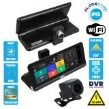 "GloboStar® 86060 DVR FHD1080p Καταγραφικό Οχημάτων Smart με Οθόνη 8"" Inches - WiFi - 4G Android 8.1OS - Sim Card Slot - GPS Navigator - Bluetooth - RAM2GB+ROM32GB - FM Transmitter - Dual Camera FHD1080p με WDR & Defogging Quad Core 1.5GHZ Process"