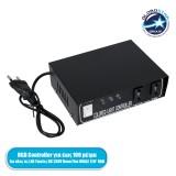 GloboStar® 22612-OVALE RGB Controller - Μεταλλάκτης Τροφοδοσίας AC/DC 230V IP20 για OVALE 120° Degree Neon Flex LED RGB 4 Pin Max 1500W - Έως 100 Μέτρα